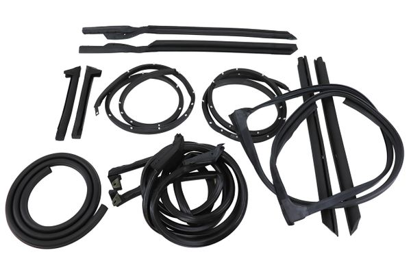 Weatherstrip 10PC Chevelle 66 67 DOOR ROOF TRUNK RUBBER SEAL KIT