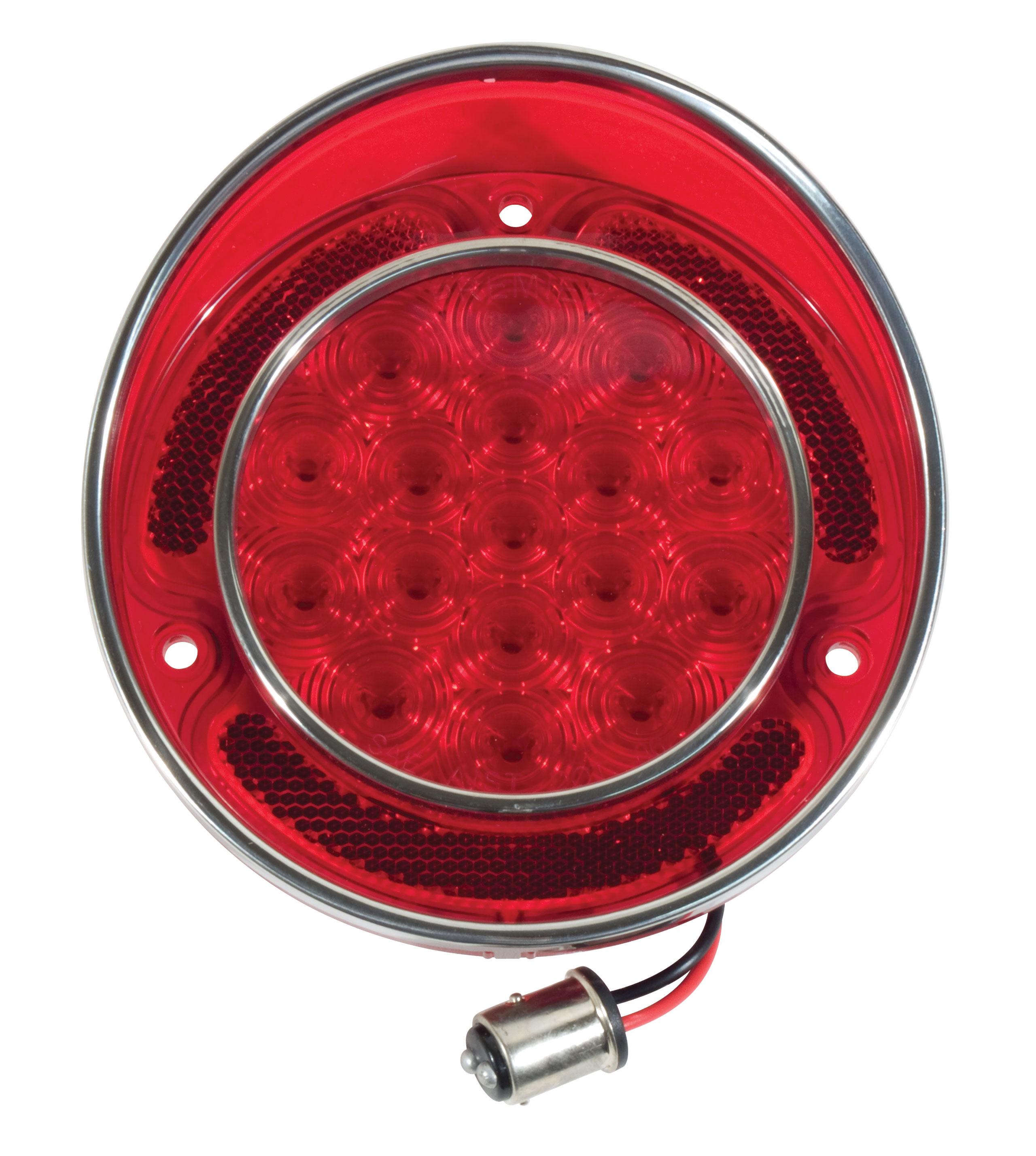 Corvette America 1968-1973 Chevrolet Corvette LED Tail Light W/SS Rim - Red