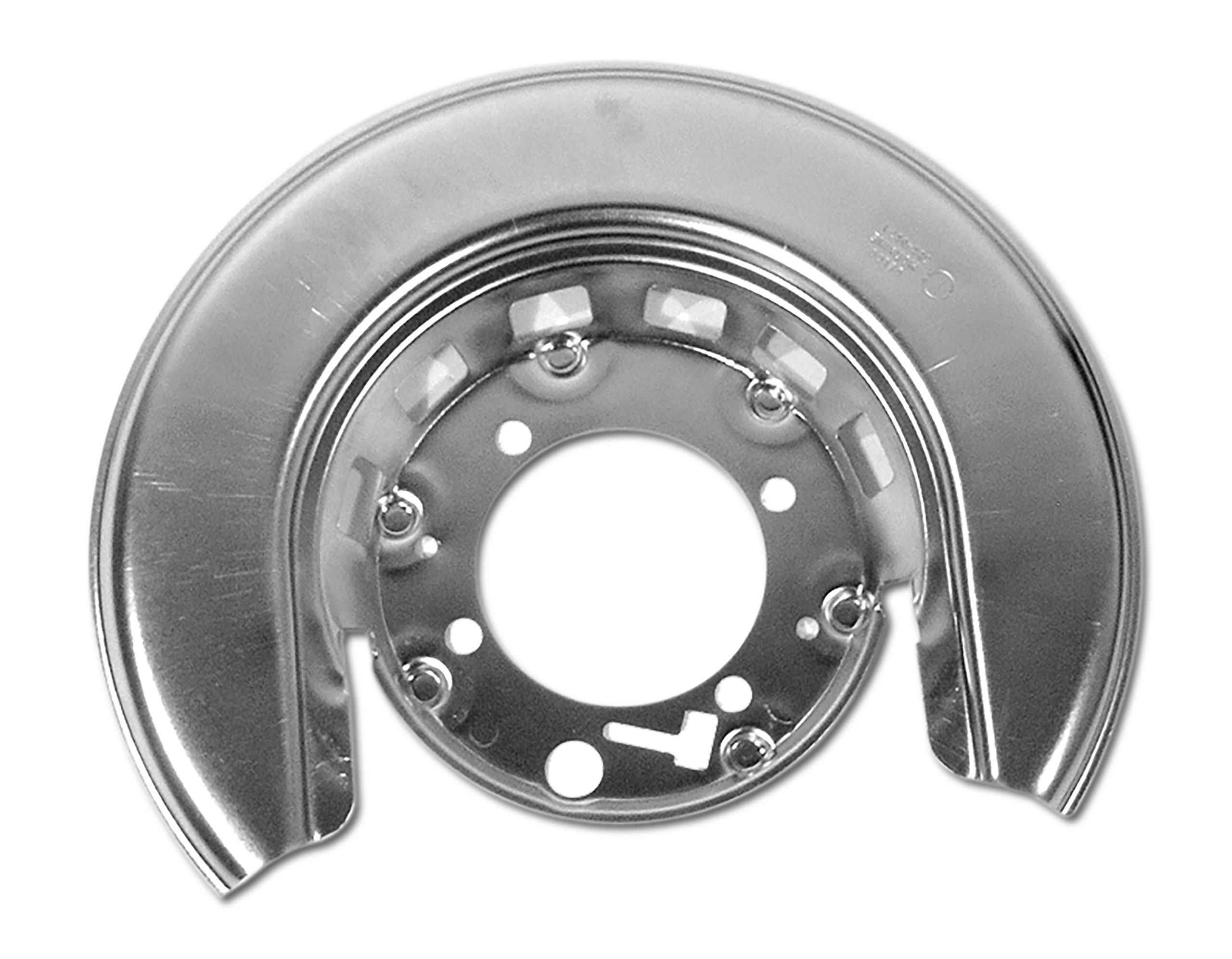 Auto Accessories of America 1965-1975 Chevrolet Corvette Rear Backing Shield. Silver LH - Reproduction